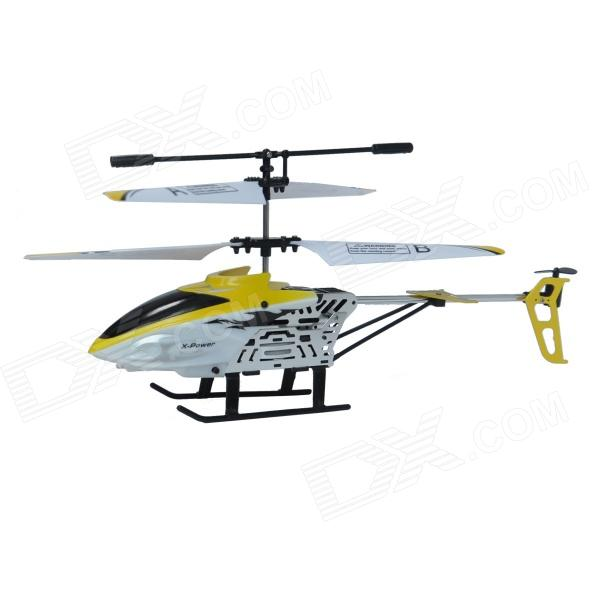 Xinhangxian S039G 3.5-CH Rechargeable R/C Helicopter w/ Gyro - Yellow + White + Black xinlin shiye x123 3 5 ch r c infrared control helicopter black yellow