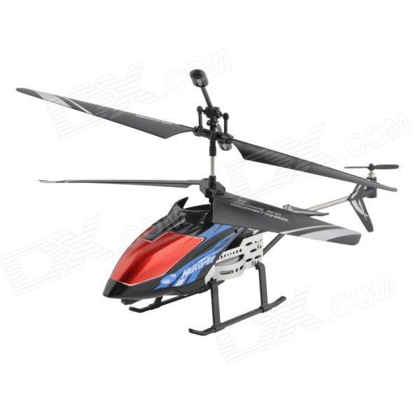 Y-HELI 3.5-CH IR Remote Controlled R/C Helicopter w/ Gyro - Blue + Black qs5026 3 5 ch micro infrared indoor remote control r c helicopter w gyro yellow black 4 x aa