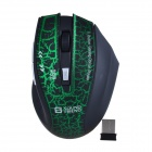 SOUND FRIEND SF-9196 2.4GHz Wireless 6 Button Gaming Optical Mouse - Green + Black (2 x AAA)