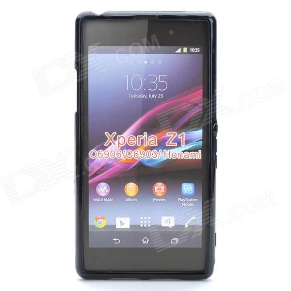 X Style Protective TPU Back Case for Sony Xperia Z1 L39h - Black sony dk31 для xperia z1 black купить