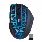 SOUND FRIEND SF-9196 2.4GHz Wireless 6 Button Gaming Optical Mouse - Blue + Black (2 x AAA)