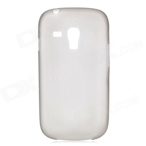 0.3mm Ultrathin Protective PC Back Case for Samsung Galaxy S3 Mini i8190 - Translucent Grey stylish protective back case for samsung i8190 galaxy s3 mini yellow translucent