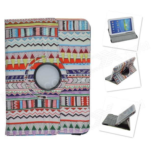 Tribal Lines Rotating Leather Case for Samsung t210 GALAXY Tab 7.0 3 P3200 tribal lines 360 rotating leather case for samsung t210 galaxy tab 7 0 3 p3200 green white