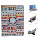 Tribal Lines Rotating Leather Case for Samsung t210 GALAXY Tab 7.0 3 P3200