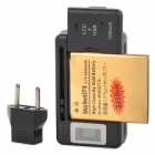 3.7V 2450mAh Battery w/ 0.8 LCD US Plug Charger EU Plug Adapter for Samsung Galaxy Xcover 2 - Black