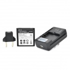 High Capacity 3.8V 2800mAh'' Replacement Battery + 0.8'' LCD USB US Plug Charger + EU Plug Adapter