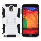 Cool Protective Plastic + TPU Case for Samsung Galaxy Note 3 N9000 - White + Black