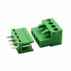 Jtron PBC Pluggable Terminal Rows / Straight 4-Pin 3.96mm Pitch - Green (10 PCS)