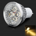 MeFire GU10 4W 240lm 3500K 4-LED Warm White Light Spotlight (AC 85~265V)