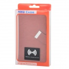 Universal Mobile Protective Flip Open PU Case w/ Suction Cup / Card Slots / Wireless Receiver