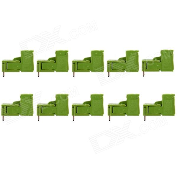 Jtron 2P Curved Needle PBC Pluggable Terminal Block - Verde (10 PCS)