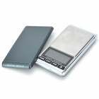 "FLY Techology DS-16 5-digit 1.8"" LCD Screen 1000g / 0.1g Digital Scale - Black + Silver (2 x AAA)"