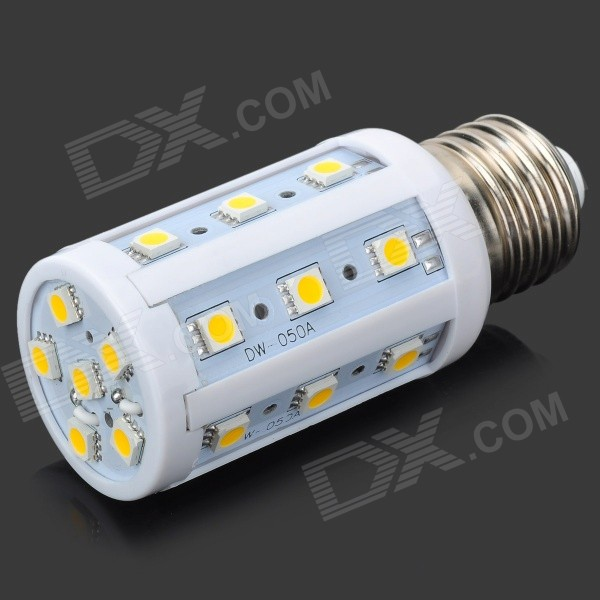 E27 4W 120lm 3200K 24-SMD 5050 LED Warm White Light Corn Lamp (220V) compact wml weapon mounted white light for glock auto pistol 200 lumens tactical hunting apl c