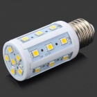 E27 4W 120lm 3200K 24-SMD 5050 LED Warm White Light Corn Lamp (12V)