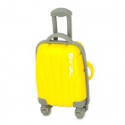 RYVAL Cute Luggage Style Water Resistant USB Flash Drive - Yellow + Grey (8GB)