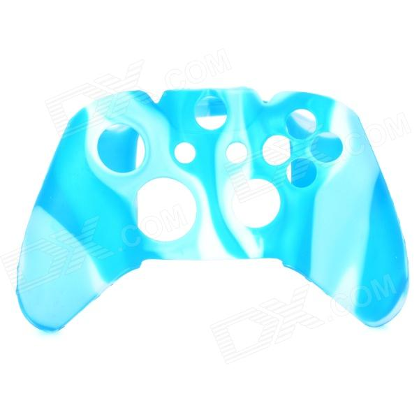 Protective Silicone Case for Xbox One Controller - White + Blue protective silicone cover case for xbox 360 controller yellow blue