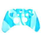 Protective Silicone Case for Xbox One Controller - White + Blue