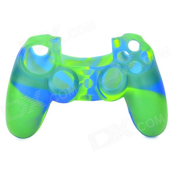 Protective Silicone Case for PS4 Controller - Yellow Green + Blue camouflage pattern silicone protective case for xbox 360 controller blue green