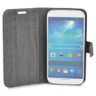 Schors Grain Style Beschermende PU Leather Case voor Samsung Galaxy S4 i9500 - Dark Grey