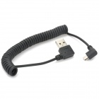Mrc-90A USB to Micro USB 2.0 Data/Charging Coiled Cable for Samsung / HTC + More - Black