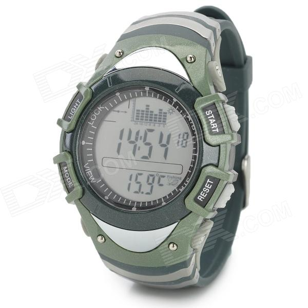 Foxguider FX702B Outdoor Fishing Barometer Altimeter Tracking Gear Digital Watch - Army Green foxguider fx702b outdoor fishing barometer altimeter tracking gear digital watch silver white