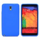 Simple Protective Silicone Back Case for Samsung Galaxy Note 3 N9000 / N9005 / N9006 / N9002 - Blue