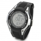 Foxguider FX702B Outdoor Fishing Barometer Altimeter Tracking Gear Digital Watch - Silver + White