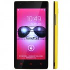 HTM M1 Android 4.1 GSM Bar Phone w/ 4.6' Capacitive Screen, Wi-Fi, Camera - Light Yellow + Black