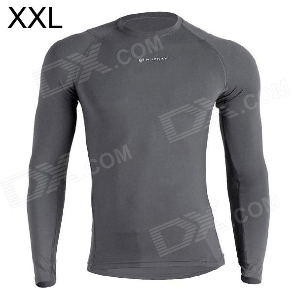 NUCKILY MH003 Outdoor Sport Cycling Men's Long-Sleeve Jersey Clothing - Grey (XXL) щиток навесной schneider electric kaedra для 8 модулей пластиковый ip65