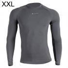 NUCKILY MH003 Outdoor Sport Cycling Men's Long-Sleeve Jersey Clothing - Grey (XXL)