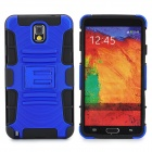 Protective Hard Plastic Back Case w/ Stand for Samsung Galaxy Note 3 N9000 - Dark Blue + Black