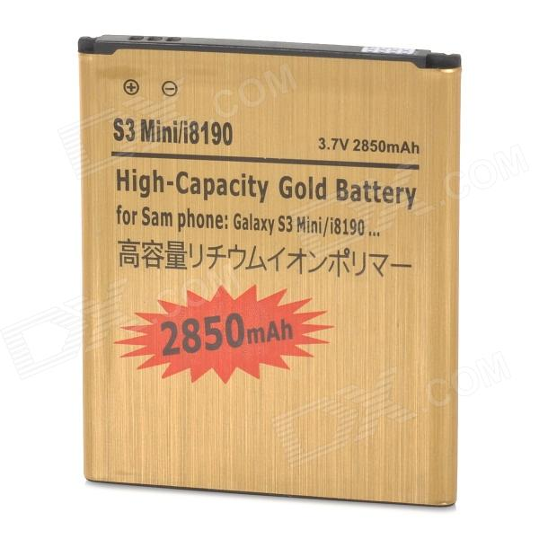 Replacement 3.7V 2850mAh Battery for Samsung Galaxy S3 mini / i8190 / i8160 - Golden mallper mp i8160 3 7v 1275mah replacement li ion battery for samsung i8160 i8190 s3 mini
