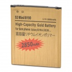 "Replacement 3.7V ""2850mAh"" Battery for Samsung Galaxy S3 mini / i8190 / i8160 - Golden"