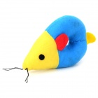 Doglemi Mouse Style Cotton Toy for Cat Pet - Blue + Yellow