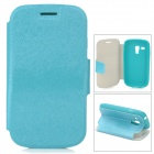 Protective PU Leather + TPU Case w/ Card Holder Slot for Samsung Galaxy S3 Mini i8190 - Green