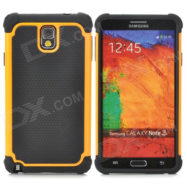 2-in-1 Protective Plastic + TPU Back Case for Samsung Galaxy Note 3 N9000 - Orange + Black 2 in 1 detachable protective tpu pc back case cover for samsung galaxy note 4 black