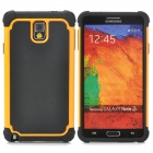 2-in-1 Protective Plastic + TPU Back Case for Samsung Galaxy Note 3 N9000 - Orange + Black