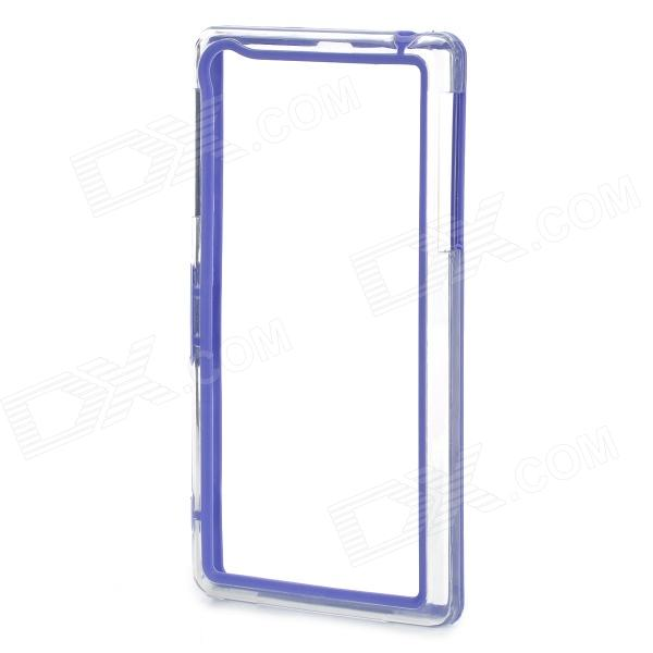 Protective PC + TPU Bumper Frame Case for Sony Xperia Z1 L39h - Dark Blue + Transparent мозаика l antic colonial frame brick dark 10x20 28 5x31 1
