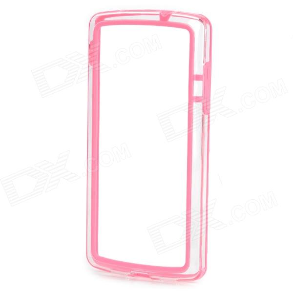 все цены на  S-What Protective PC + TPU Bumper Frame Case for LG Nexus 5 - Pink + Transparent  онлайн