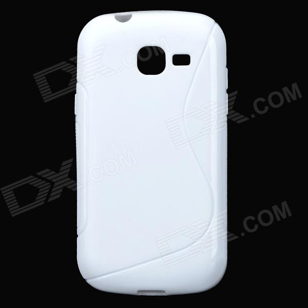 S Pattern Protective TPU Back Case for Samsung Galaxy Trend Lite S7390 / S7932 - White 500pcs ao3400 ao3400a sot 23