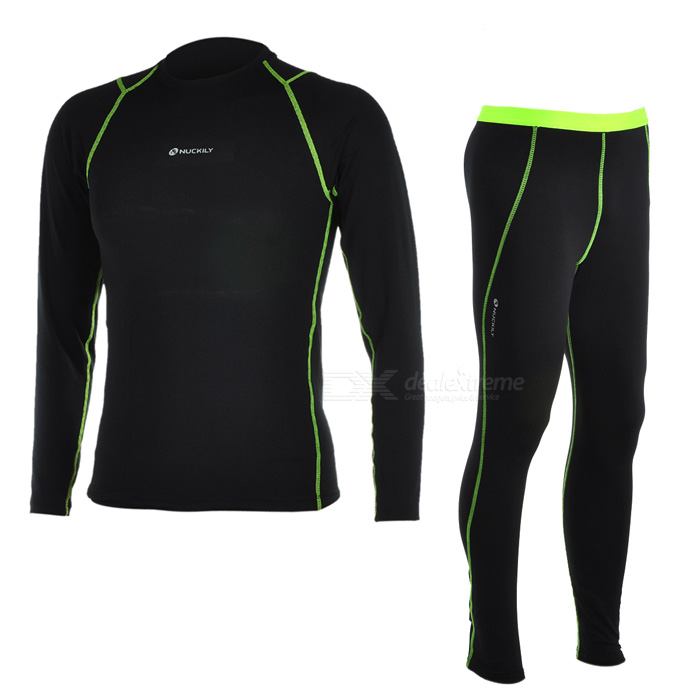 NUCKILY Men's Outdoor Sports Warm Suit for Hiking / Cycling - Black (M)