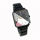 Unisex Fashion Personality Quartz Watch - Black + Pink