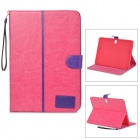 Protective PU Leather Case for Samsung Galaxy Note 10.1 P600 2014 - Deep Pink