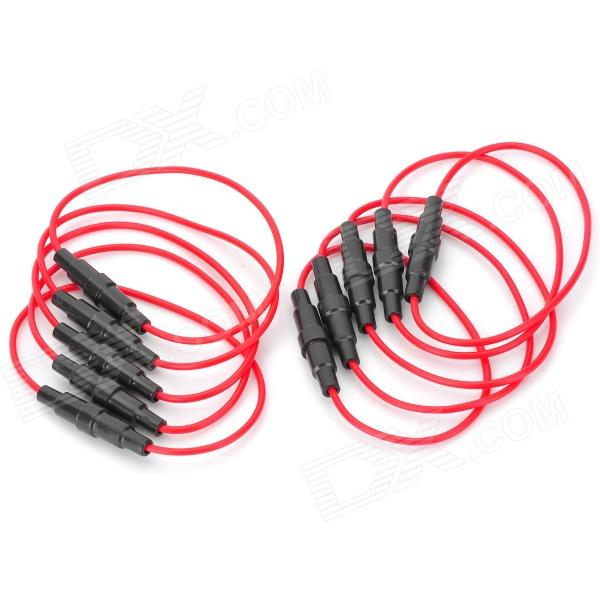 5 x 20mm Fuse Base Holder - Red + Black (10 PCS) 100 pcs ptf 7 dip fuse holder 6 3a 250v