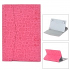"Cute Cartoon Style Protective PU Leather + ABS Case for 7"" Tablet PC - Deep Pink"
