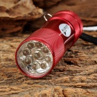 UltraFire M-32 1W 9-LED 10lm 1-Mode White Flashlight - Red (3 x AAA)