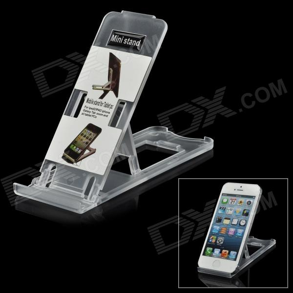 EY-5201 Stylish Adjustable Stand Holder for All Cell Phones - Translucent White цена и фото