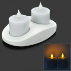 ZnDiy-BRY Z-101 Novel Candle Style Waterproof Induction LED Lamp - White