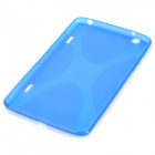 """X"" Style Protective TPU Back Case for LG G Pad 8.3 V500 - Translucent Blue"