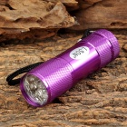 LSON MY-320 1W 9-LED 10lm 1-Mode White Flashlight - Purple (3 x AAA)